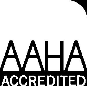 White AAHA Accredited logo